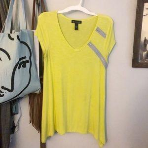 INC Electric Yellow Tunic